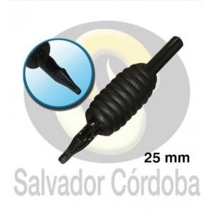 Tubo desechable 25 mm. - Redondo (20 unidades)