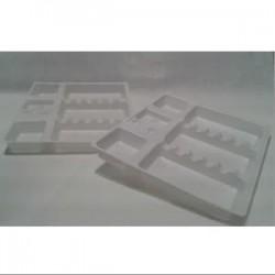 Bandeja desechable plástico monouso (25 uds.)